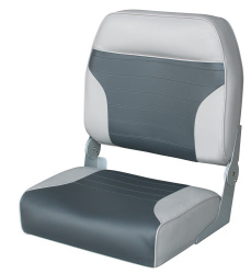 Big Man Folding Bass Boat Seat, Gray-Charcoal …