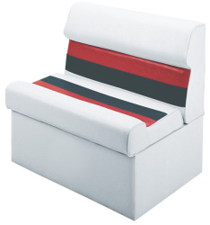 "Deluxe Pontoon 28"" Lounge Seat, White-Re …"