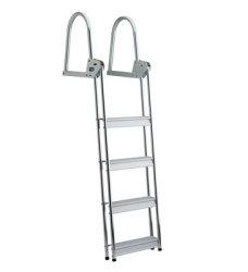 5 Step Anodized Aluminum Dock/Raft Ladder - F …
