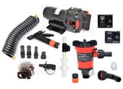 Aqua Jet WD/Livewell Kit, 12V - Johnson Pump