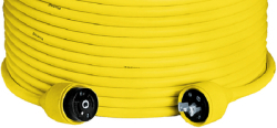 Hubbell Telephone Cable Set, 50', Yellow