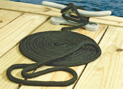 "Dock Line, 3/8"" x 15', Black - Seach …"