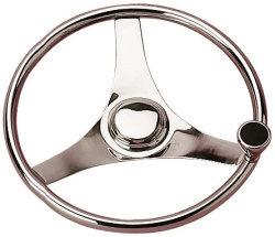 Steering Wheel w/Knob, Stainless Steel, 13-1/ …