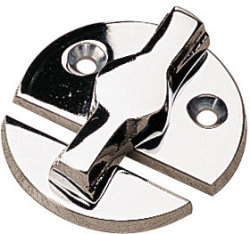 Door Button, Chrome Brass - Seadog Line