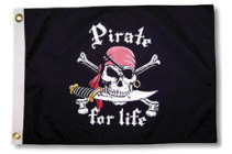 Taylor Made, Pirate for Life Flag, Pirate Fla …