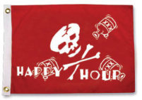 Taylor Made, Happy Hour Pirate Flag, Pirate F …