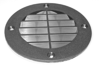 Vent Cover, Louvered Style, Fish White - T-H  …