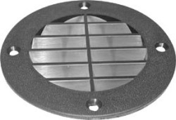 Vent Cover, Louvered Style, Black - T-H Marin …