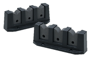 3 Rod Storage Holder, PVC, White, Cd. 6 (Pr.) …