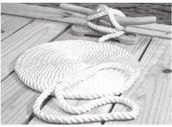 Nylon Dock Line, 3 Strand Twisted, 10', W …
