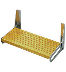 "Garelick 18"" Oak Footrest Dock Steps"