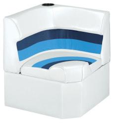 Deluxe Pontoon Corner Section Lounge Seat, Wh …
