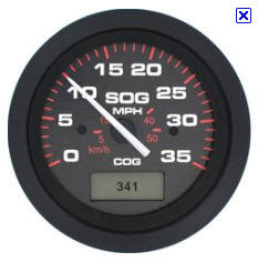 GPS Speedometer, 35MPH  - SeaStar Solutions