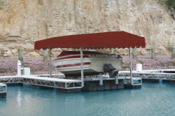 Hewitt Boat Lift Canopy Cover Delue Front for …