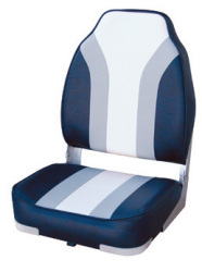 Classic High Back Fishing Boat Seat, Navy-Gra …