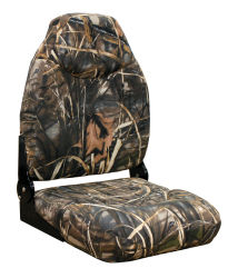 Camo Mid-Back Fold Down Seat with Contured Fo …