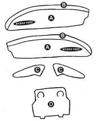 Part C - Kawasaki 650SX Kit (2 Sides, Dash, 2 …
