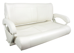 Double Bucket Boat Seat, White - Springfield  …