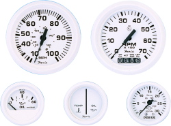 "Tachometer, 7K, 4"" For Outboards, Alumin …"