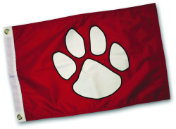 "Paws Aboard, Paw Print Flag, 18.5"" x 10& …"