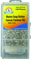 Canvas Fasteners and Tool Kit, 144 pieces - H …