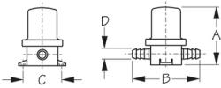 Polyin-Line Strainer-5/8in Ho - Seadog Line