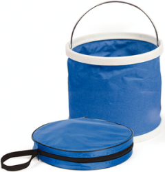 Collapsible Bucket Blue&White - Camco
