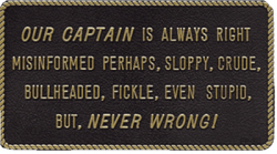 Bernard Our Captain Is Always Right Marine Si …