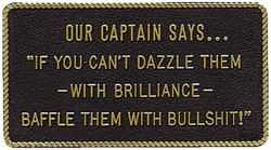 Bernard Our Captain Says.... Marine Signs &am …