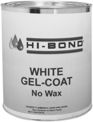 White Gel Coat No Wax Qt W/Hdr - Hi Bond