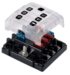 6- Position Fuse Holder With Qu - BEP Marine