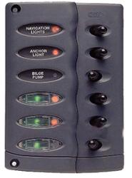 Waterproof Switch Panel 6 Way - BEP Marine