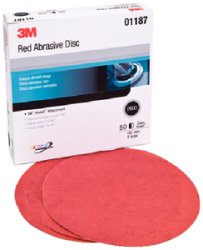 Red Hookit Disc 6 P800a 50/Bx - 3m