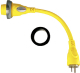 Pigtail 30a F To 15a M Yellow - Furrion Ltd