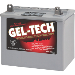 Gel-Tec Dryfit Battery, 12 Volt Deep Cycle -  …