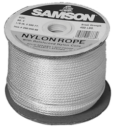 "Nylon Rope, Solid Braid, 1/8"" x 500' …"