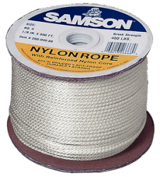 "Nylon Rope, Solid Braid, 5/16"" x 500&#39 …"