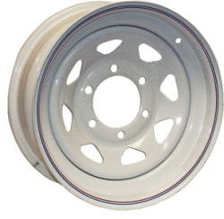 Steel Spoke Trailer Wheel, 15x6JJ, White w/ S …