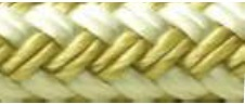 Double Braid Rope Spool, Gold/White, 3/8&quot …