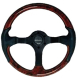 Leather Look Wheel, Burl Wood - Uflex
