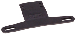 License Plate Bracket, Black - Wesbar
