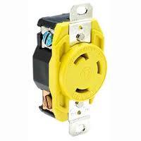 RECEPTACLE NYLON YELLOW - Actuant Electrical