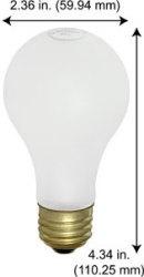 A19 MED SCR FR 34V25W BU - Light Bulb Depot 2 …