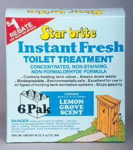 Instant Fresh Toilet Treatment, Lemon, 6 Pack - Star Brite