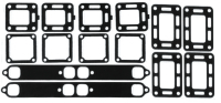 Exhaust Manifold Gasket Set for Mercruiser 27-33395A2, GLM 39280, Barr MC47-27-33395A2 - Sierra