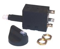 Rotoswitch Rotary Switch 2 Position Momentary On-Off-On - Sierra
