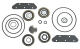 Upper Unit Seal Kit for OMC Sterndrive/Cobra, Johnson/Evinrude 982949, GLM 87650 - Sierra