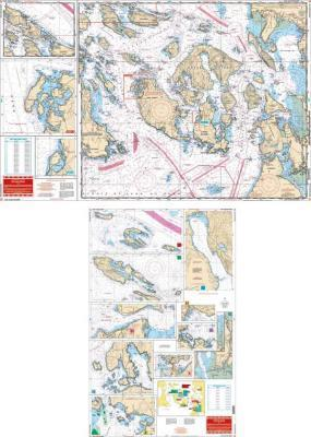 San Juan Islands, Washington Nautical Marine Charts - Waterproof Charts