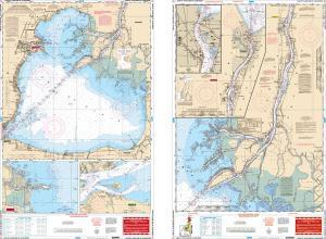 Lake St. Clair & St. Clair River, Great Lakes Nautical Marine Charts - Waterproof Charts