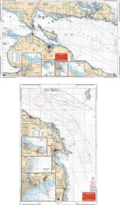 Northern Lake Huron & Straits of Mackinac Nautical Marine Charts - Waterproof Charts